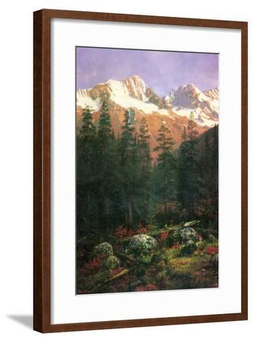 Canadian Rockies-Albert Bierstadt-Framed Art Print