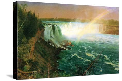 Niagara Falls-Albert Bierstadt-Stretched Canvas Print