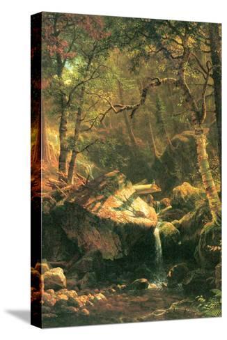The Mountain-Albert Bierstadt-Stretched Canvas Print