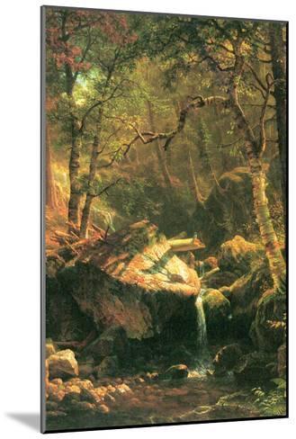 The Mountain-Albert Bierstadt-Mounted Art Print