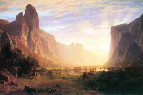 Yosemite Valley 3-Albert Bierstadt-Stretched Canvas Print
