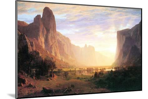 Yosemite Valley 3-Albert Bierstadt-Mounted Art Print