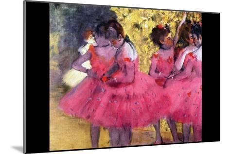 Dancers in Pink Between the Scenes-Edgar Degas-Mounted Art Print