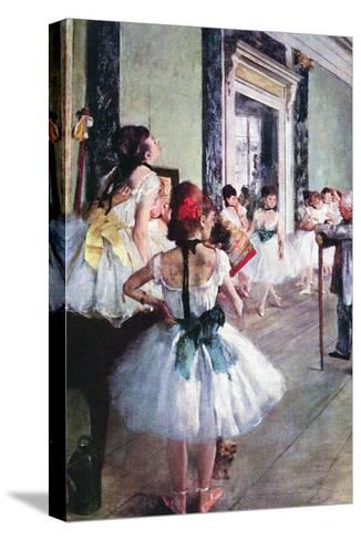 The Dance Class-Edgar Degas-Stretched Canvas Print