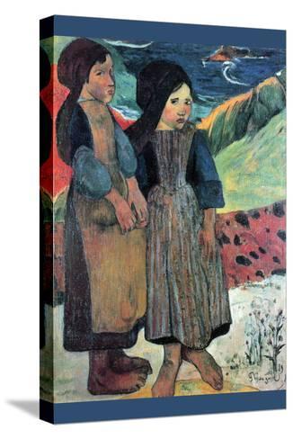Breton Near Sea-Paul Gauguin-Stretched Canvas Print