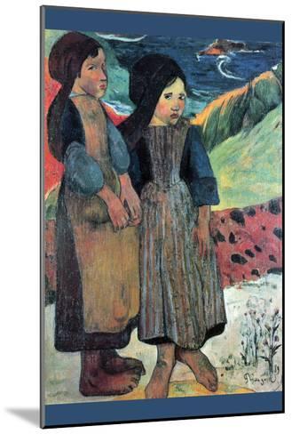 Breton Near Sea-Paul Gauguin-Mounted Art Print