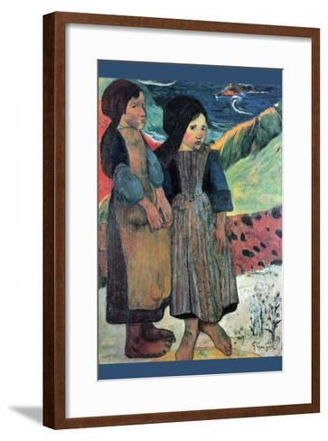 Breton Near Sea-Paul Gauguin-Framed Art Print
