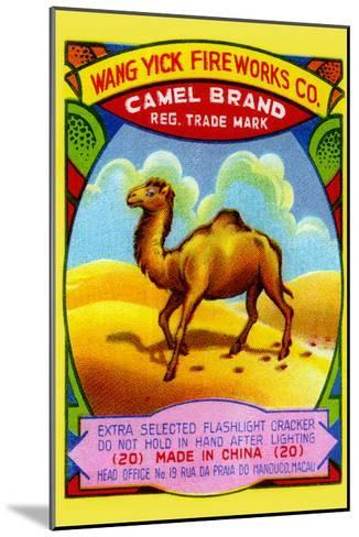 Wang Yick Fireworks Camel Brand--Mounted Art Print