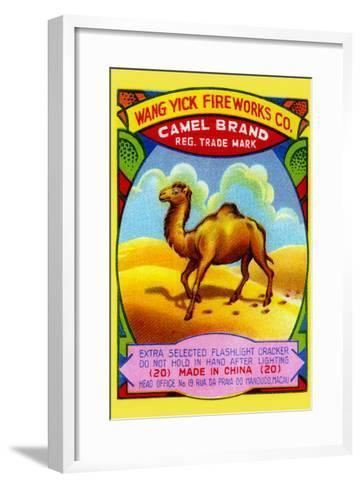 Wang Yick Fireworks Camel Brand--Framed Art Print