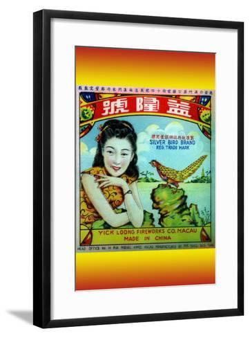 Silver Bird Brand Firecracker--Framed Art Print