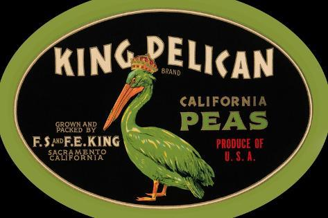 King Pelican California Peas--Stretched Canvas Print