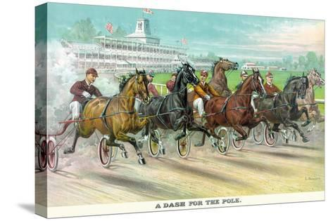 A Dash for the Pole-Currier & Ives-Stretched Canvas Print