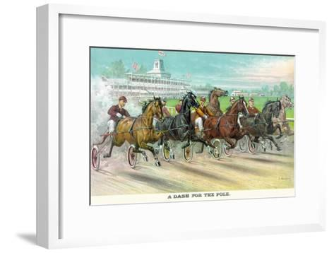A Dash for the Pole-Currier & Ives-Framed Art Print