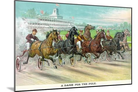 A Dash for the Pole-Currier & Ives-Mounted Art Print