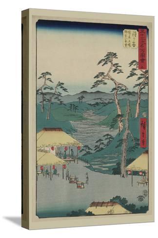 Hodogaya-Ando Hiroshige-Stretched Canvas Print