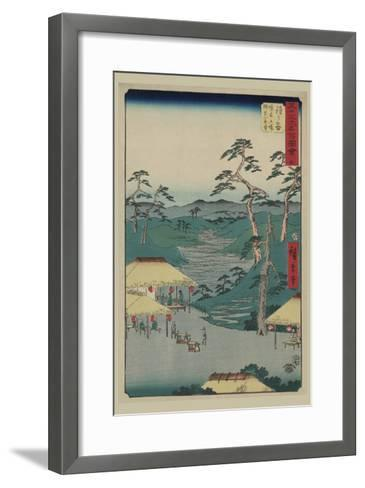 Hodogaya-Ando Hiroshige-Framed Art Print