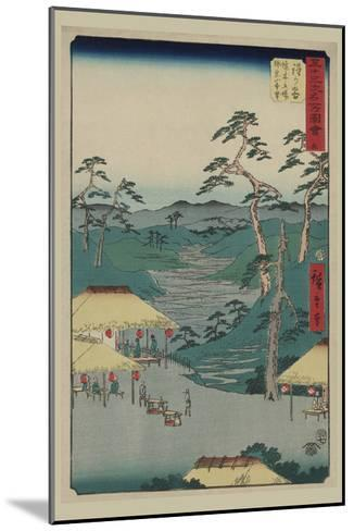 Hodogaya-Ando Hiroshige-Mounted Art Print