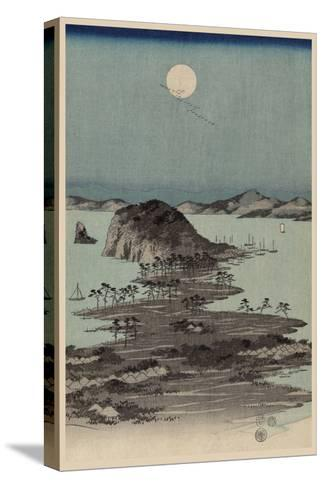 Evening View of Eight Famous Sites at Kanazawa in Musashi Province (Uyokanazawa Hassshoyakei) No.1-Ando Hiroshige-Stretched Canvas Print