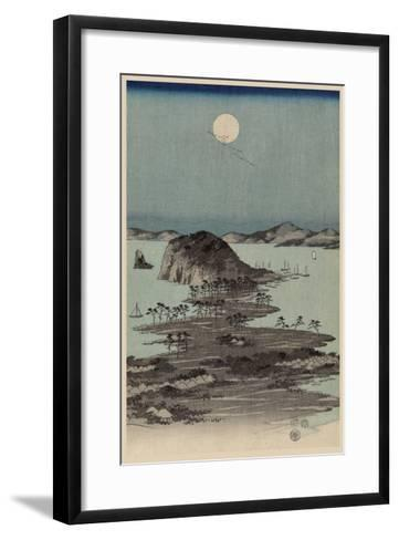 Evening View of Eight Famous Sites at Kanazawa in Musashi Province (Uyokanazawa Hassshoyakei) No.1-Ando Hiroshige-Framed Art Print