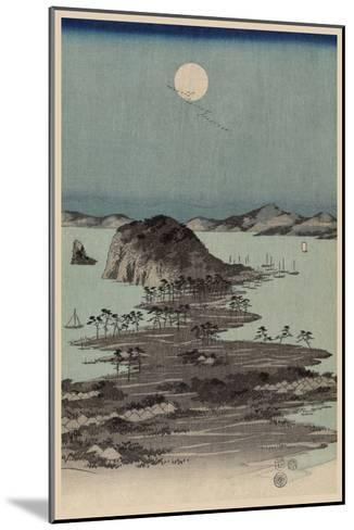 Evening View of Eight Famous Sites at Kanazawa in Musashi Province (Uyokanazawa Hassshoyakei) No.1-Ando Hiroshige-Mounted Art Print