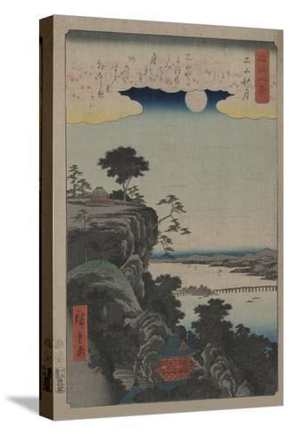 Autumn Moon at Ishiyama (Ishiyama No Shugestu)-Ando Hiroshige-Stretched Canvas Print