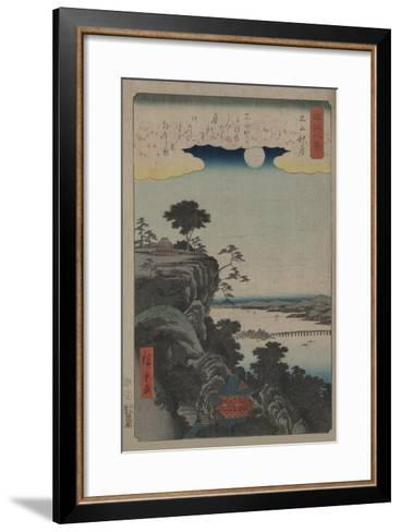 Autumn Moon at Ishiyama (Ishiyama No Shugestu)-Ando Hiroshige-Framed Art Print