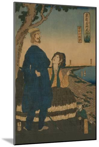 Enjoying the View from Atago Hill (Atago Yama Cho?Bo?)-Sadahide Utagawa-Mounted Art Print