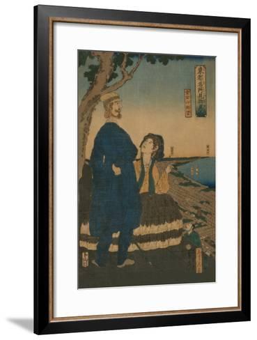 Enjoying the View from Atago Hill (Atago Yama Cho?Bo?)-Sadahide Utagawa-Framed Art Print