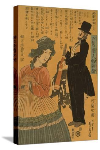 People of the Five Nations - Dutch (Gokakoku Jinbutsu Zue - Orandakoku)-Sadahide Utagawa-Stretched Canvas Print