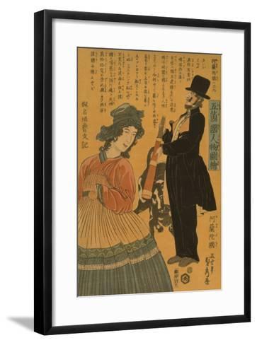 People of the Five Nations - Dutch (Gokakoku Jinbutsu Zue - Orandakoku)-Sadahide Utagawa-Framed Art Print