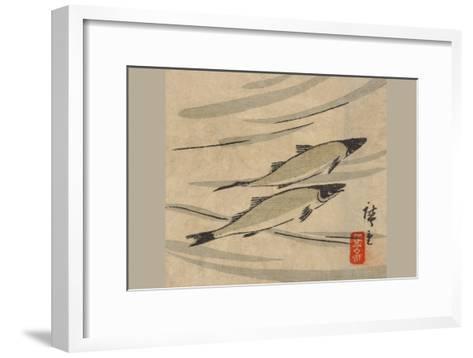 River Trout (Ayu Zu)-Ando Hiroshige-Framed Art Print