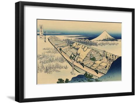 Ushibori in Hitachi Province-Katsushika Hokusai-Framed Art Print