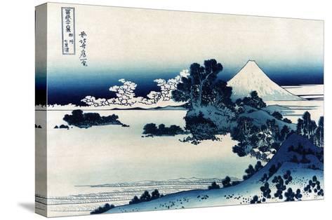 Schichiri Beach in Sagami Province-Katsushika Hokusai-Stretched Canvas Print