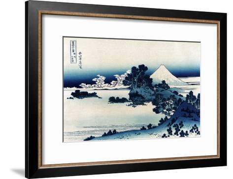 Schichiri Beach in Sagami Province-Katsushika Hokusai-Framed Art Print