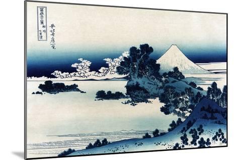Schichiri Beach in Sagami Province-Katsushika Hokusai-Mounted Art Print