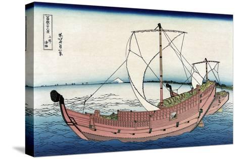 Kazusa Sea Route-Katsushika Hokusai-Stretched Canvas Print