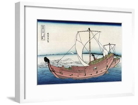 Kazusa Sea Route-Katsushika Hokusai-Framed Art Print