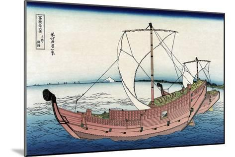 Kazusa Sea Route-Katsushika Hokusai-Mounted Art Print