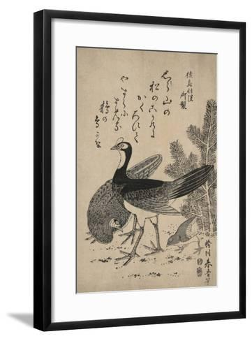 Wildfowl and Pine-Katsukawa Shunsei-Framed Art Print