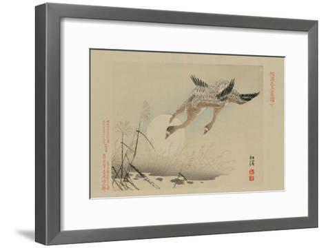 Flying Cranes--Framed Art Print
