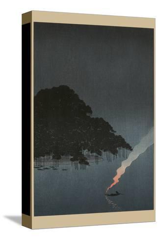 Karasaki Pines at Night--Stretched Canvas Print