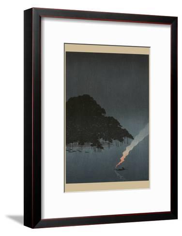Karasaki Pines at Night--Framed Art Print