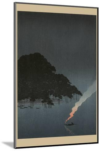 Karasaki Pines at Night--Mounted Art Print