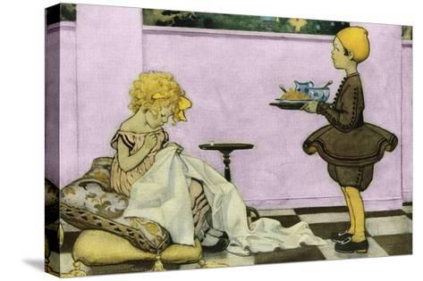Curly Locks-Jesse Willcox Smith-Stretched Canvas Print