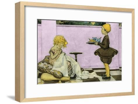 Curly Locks-Jesse Willcox Smith-Framed Art Print