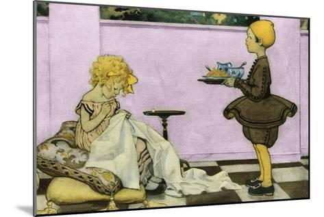 Curly Locks-Jesse Willcox Smith-Mounted Art Print