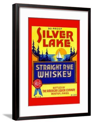 Silver Lake Straight Rye Whiskey--Framed Art Print