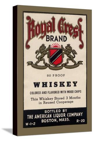 Royal Crest Brand Whiskey--Stretched Canvas Print