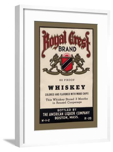Royal Crest Brand Whiskey--Framed Art Print