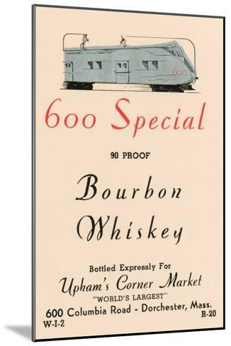 600 Special Bourbon Whiskey--Mounted Art Print